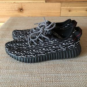 0d98601ceda Adidas Boost Yeezy Black and white shoes  348